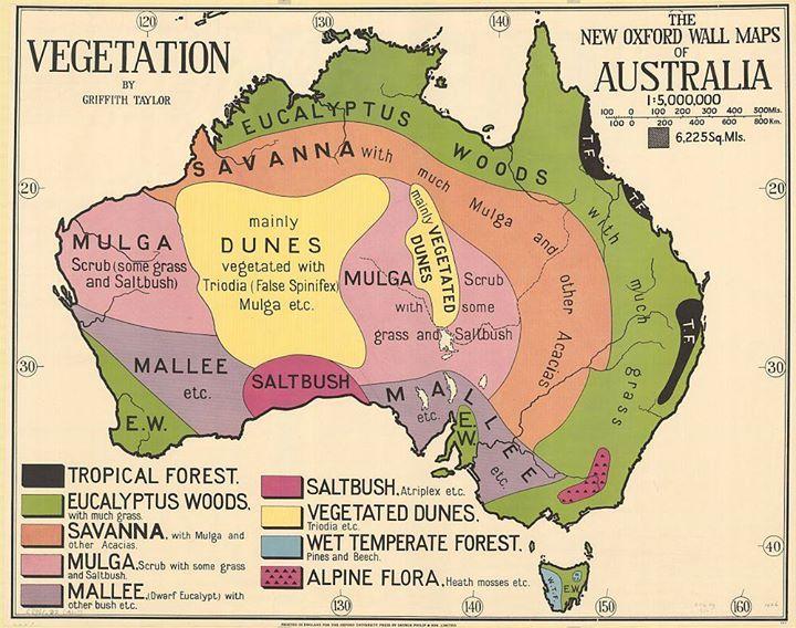 Map Of Australia 1880.Australia S Vegetation Map By Geographer And Antarctic Explorer