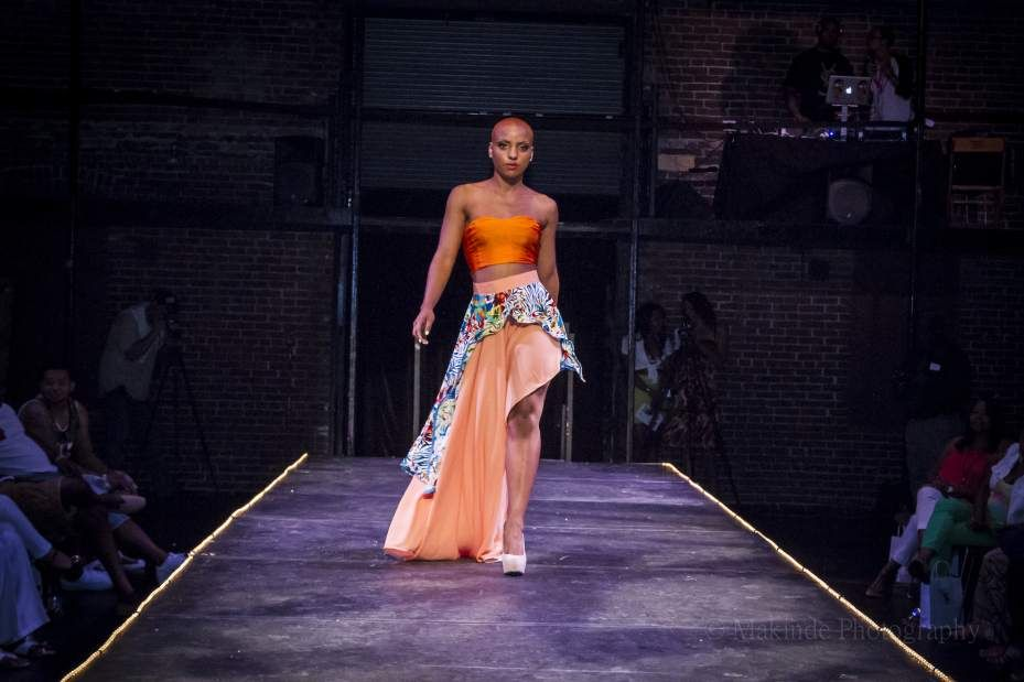 Model Dosh Mclaurin Wears An Outfit Designed By Sofiya Mozley A Student At The Art Institute Of Pittsburgh Mozley S Col Decades Fashion Fashion Fashion Event