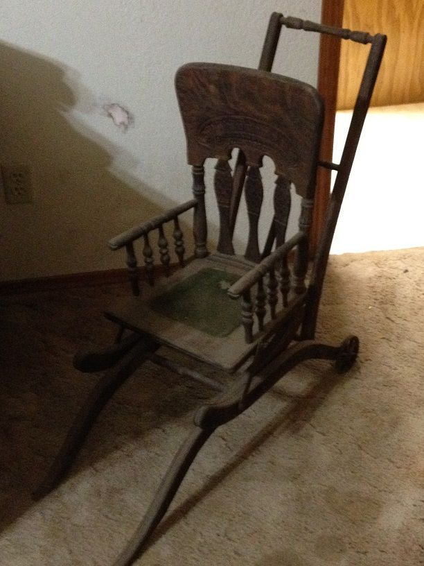 victorian antique baby stroller high chair from the 1800. Black Bedroom Furniture Sets. Home Design Ideas
