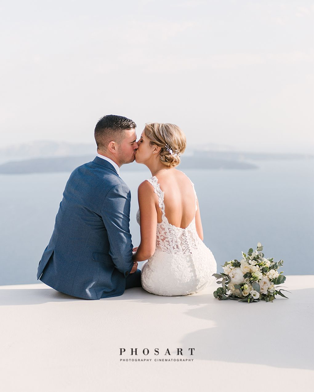 A Kiss Is Better Than A View Even Santorini View Photo By