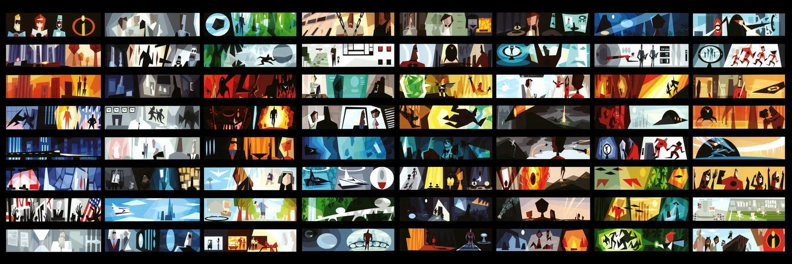 Color Script By Lou Romano For PixarS The Incredibles Saul Bass