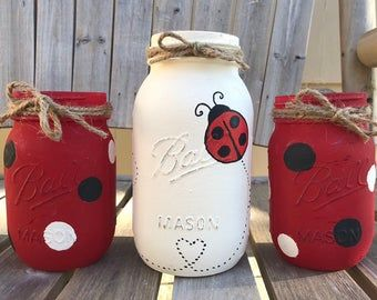 Coffee Mason Jars / Coffee Lovers Gift / Coffee Gift Set / Coffee Home Decor