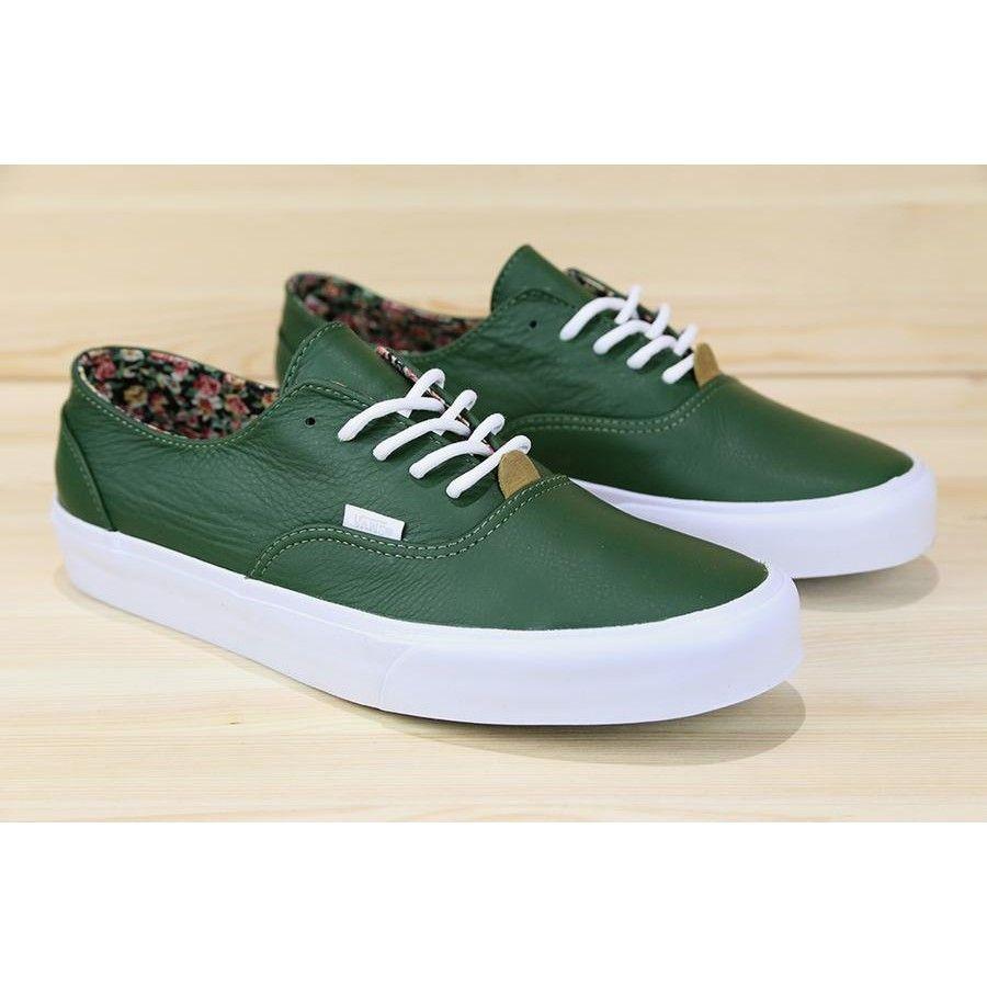 Vans Era Decon CA (Nappa Leather) Dark Green Mens Shoes at