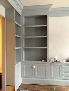 gorgeous gray cabinet paint colors | corner storage