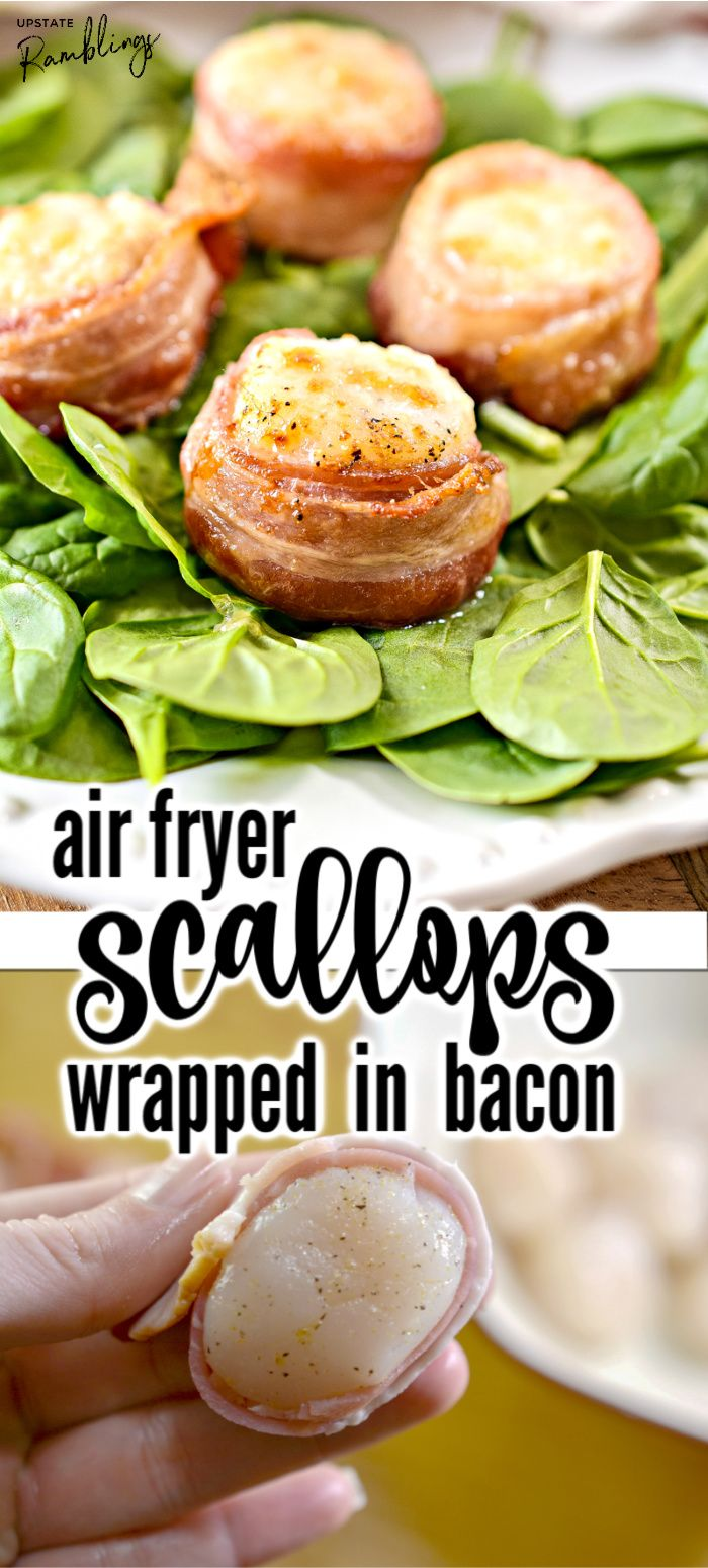 This easy recipe for air fryer scallops wrapped in bacon