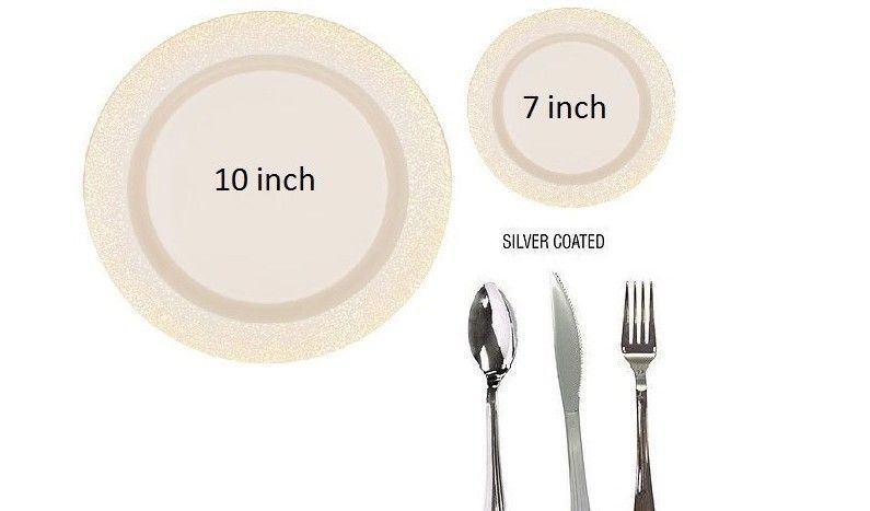 Our White Premium Quality Plastic Plates with Silver Rim Trim are classic.  sc 1 st  Pinterest & Bulk Misty Silver wedding Dinner party disposable plastic plates ...