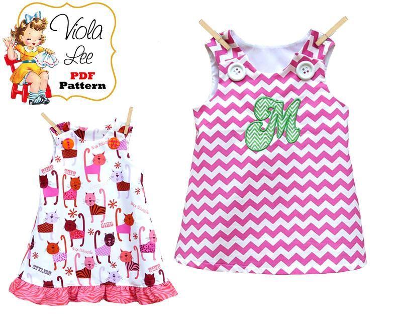 Photo of Girls Summer Dress Pattern, Girl's Dress Pattern, pdf Dress Pattern, Aline Dress Pattern, Toddler Dress Pattern, Infant Dress Pattern Joleen