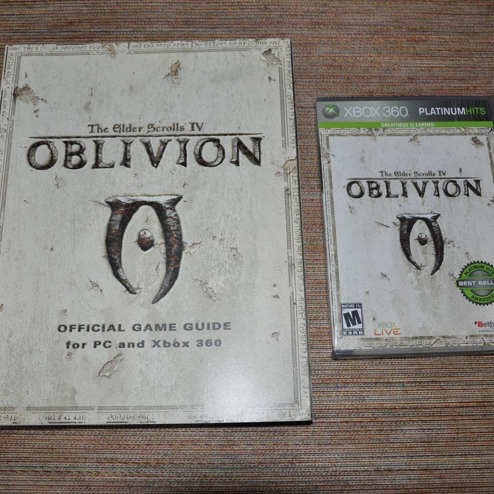 Elder Scrolls IV 4 Oblivion Game and Guide Book Xbox 360
