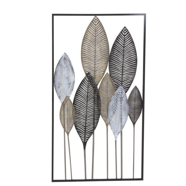 Metal Leaf Wall Decor Leaf Wall Art Metal Wall Plaques Framed Leaves