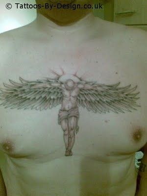 Angel Chest Tattoo : angel, chest, tattoo, Angel, Tattoos, Chest, Zimbio, Tattoo, Guys,