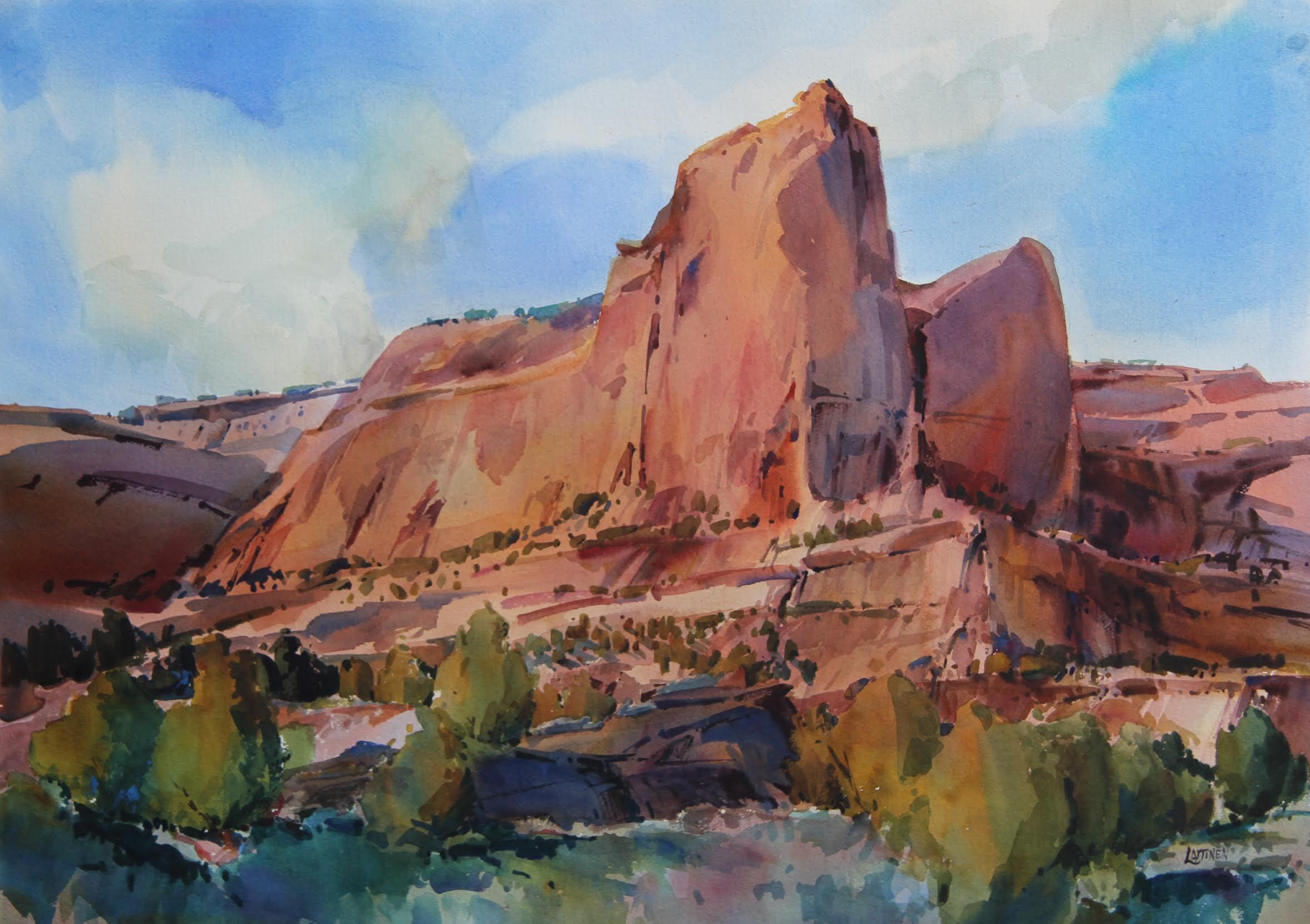 Dale laitinen red rock cloud scraper arizona 29x41