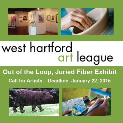 Out of the Loop, Juried Fiber Exhibit - Call For Entries - DEADLINE JANUARY 22, 2015 - $500 in Awards - MORE INFO: http://www.theartlist.com/art-calls/out-of-the-loop-juried-fiber-exhibit-call-for-entries - Our third broad-scale juried fiber arts show to showcase out-of-the-ordinary,contemporary fiber works that advance traditional techniques through radically innovative interpretations. We encourage two and three-dimensional works including sculptural pieces.