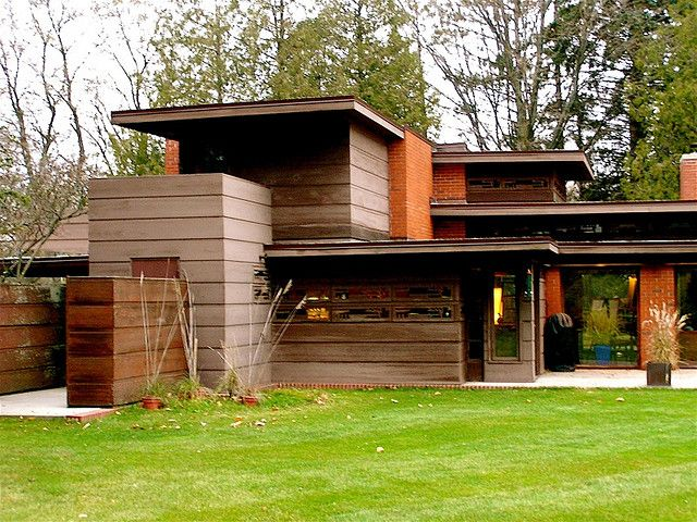 Wood And Brick Frank Lloyd Wright Architecture Usonian House Frank Lloyd Wright Homes