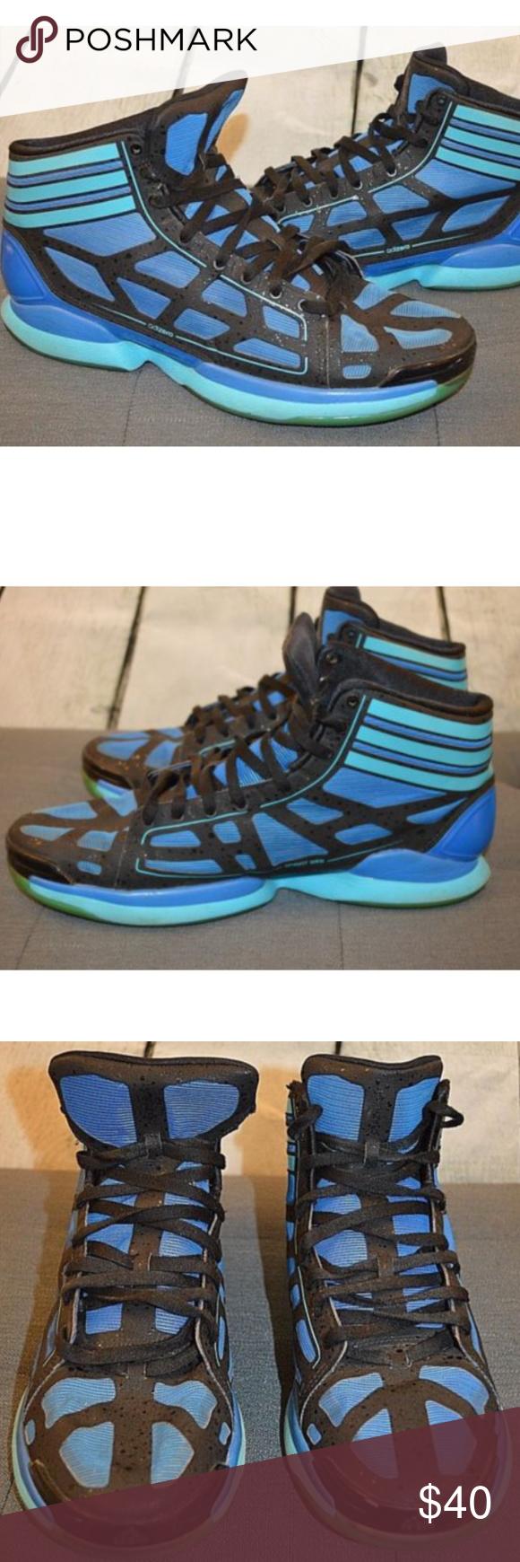 Adidas adizero negro & AZUL zapatilla zapatos 13 mi Posh Picks