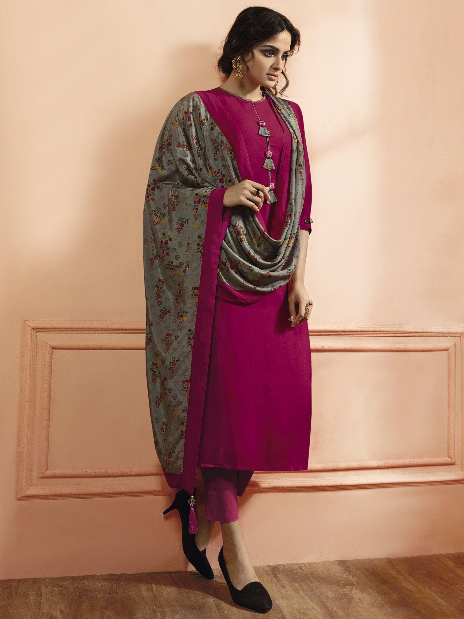 c75a18bf5a Rani Color Maslin Silk Fabric Fancy Designer Kurti. | Designs in ...