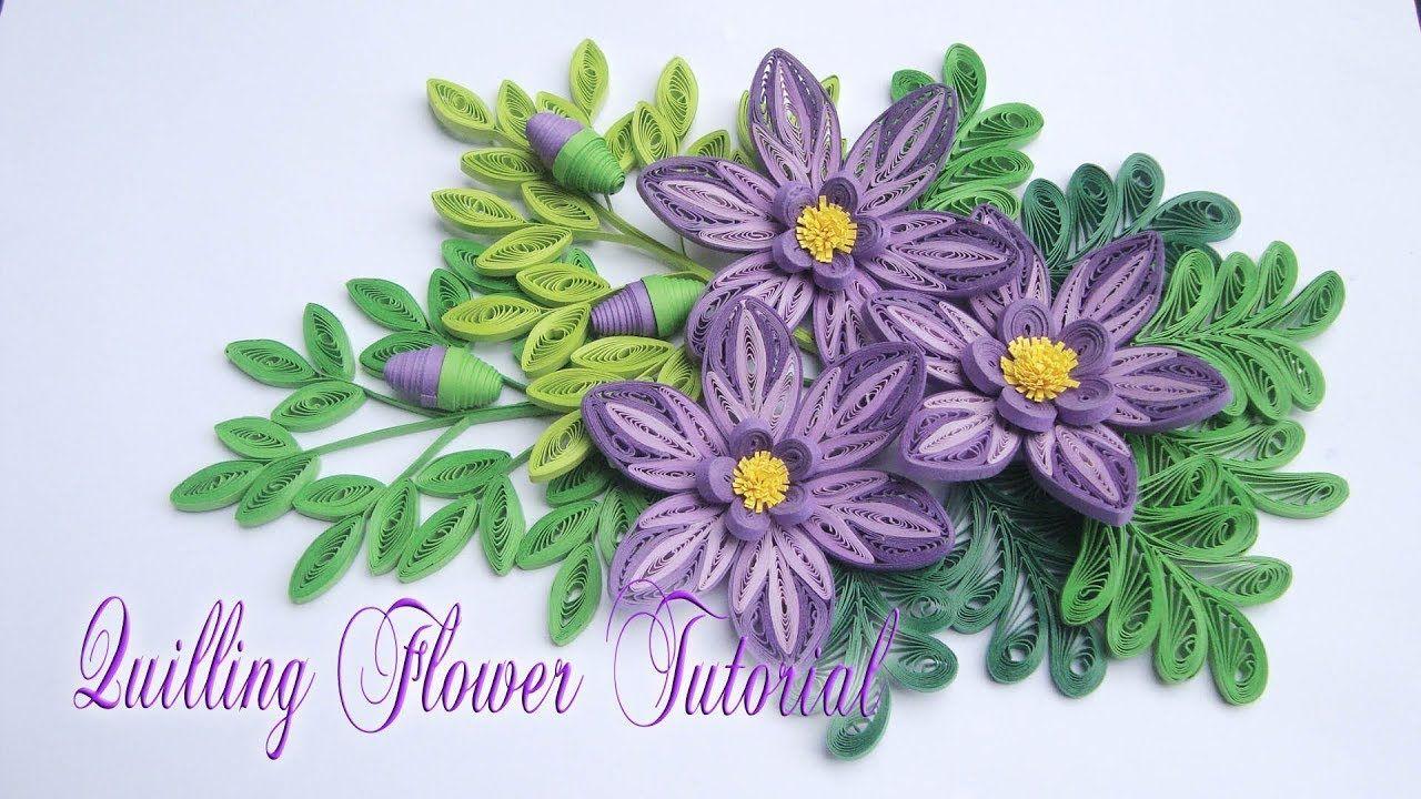 Quilling Flower V3 Tutorial Diy Paper Flower Handmade Decoration