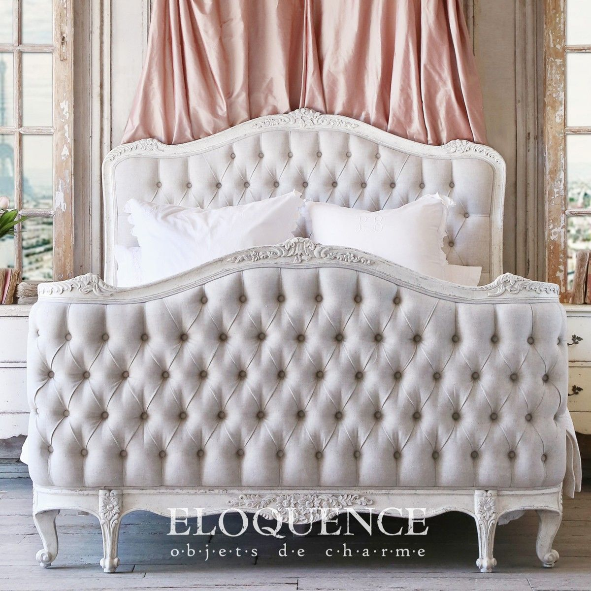 Eloquence Collection   Beds U0026 Headboards   ELOQUENCE Sophia Queen Bed In  Weathered White   Cottage Haven Interiors Good Ideas