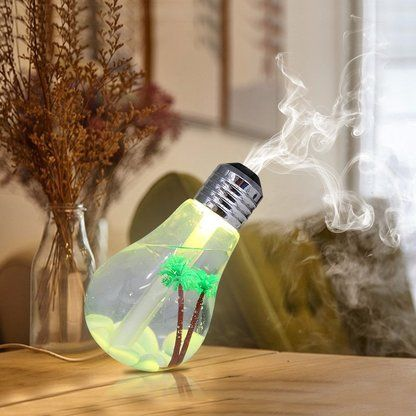 LED Color Changing Light Bulb Ultrasonic Humidifier Air Infuser