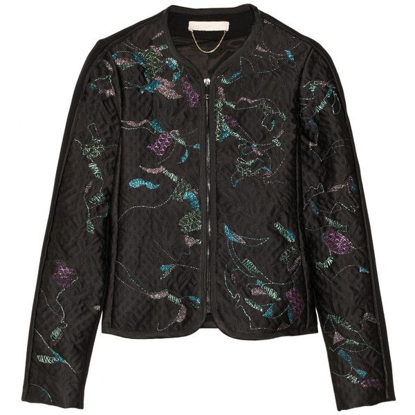 Vanessa Bruno Nora metallic embroidered satin-brocade jacket ($533) ❤ liked on Polyvore
