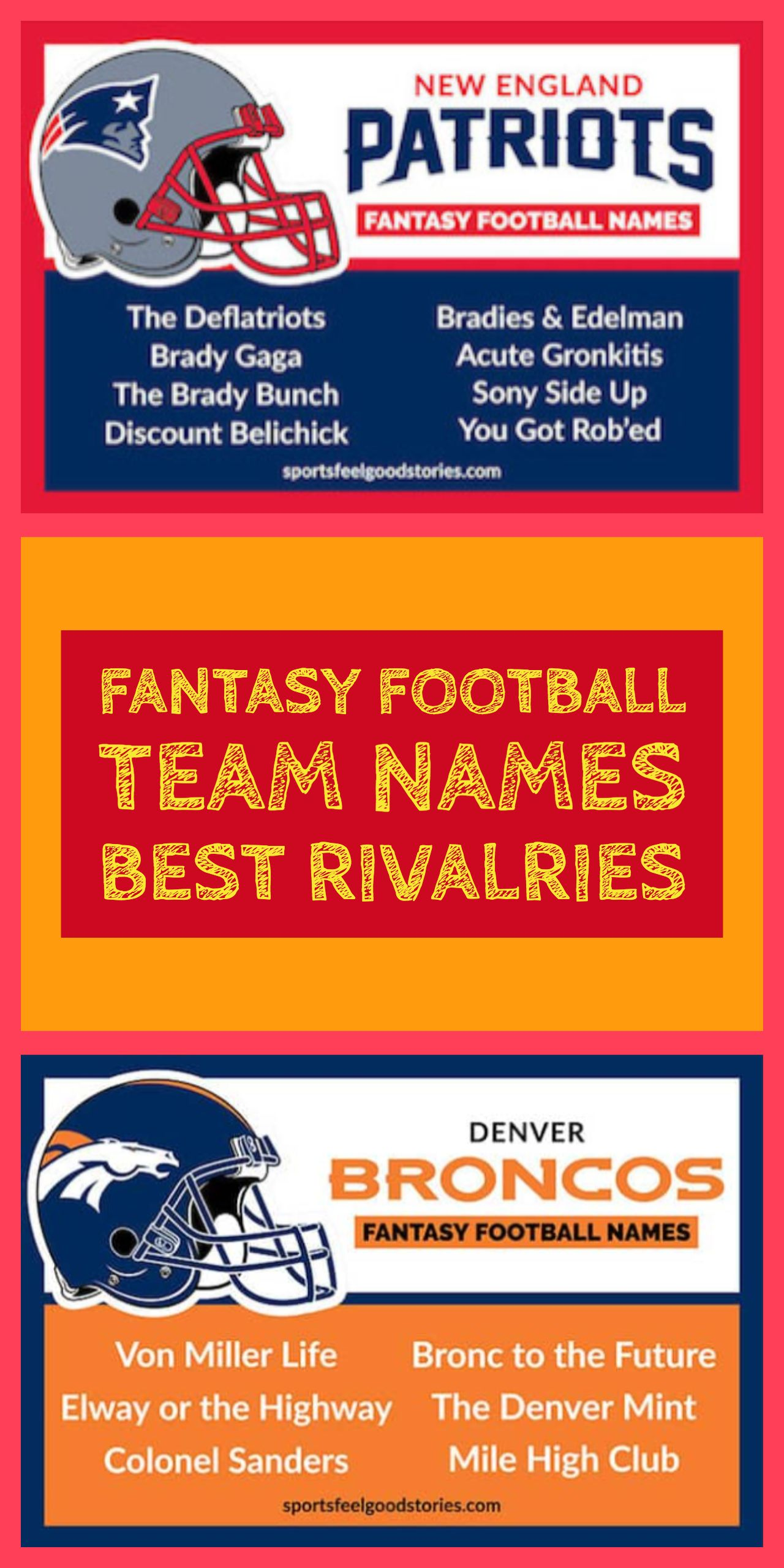 Best Fantasy Football Names Sorted By Team Sports Feel Good Stories Fantasy Football Names Football Names Cool Fantasy Football Names
