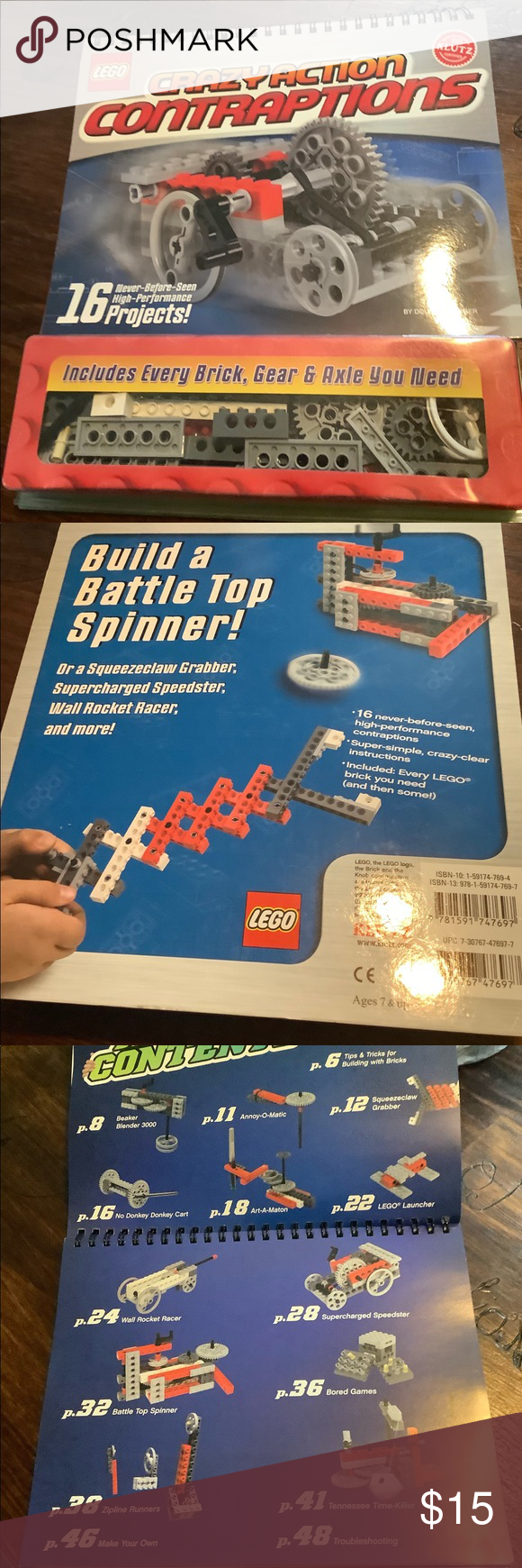 Klutz Lego Crazy Action Contraptions Book Legos Klutz Lego Crazy Action Contraptions Book And All Pieces New Lego Other In 2020 Lego For Kids Lego Legos