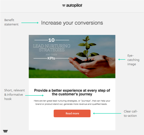 Nurture Email Example From Autopilot  Remarkable Emails