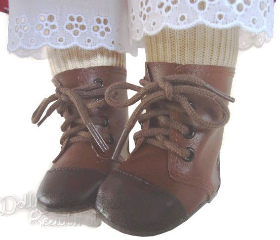 """For 18/"""" American Girl Black 1800 Boots /& Tights Samantha Doll Clothes Accessory"""