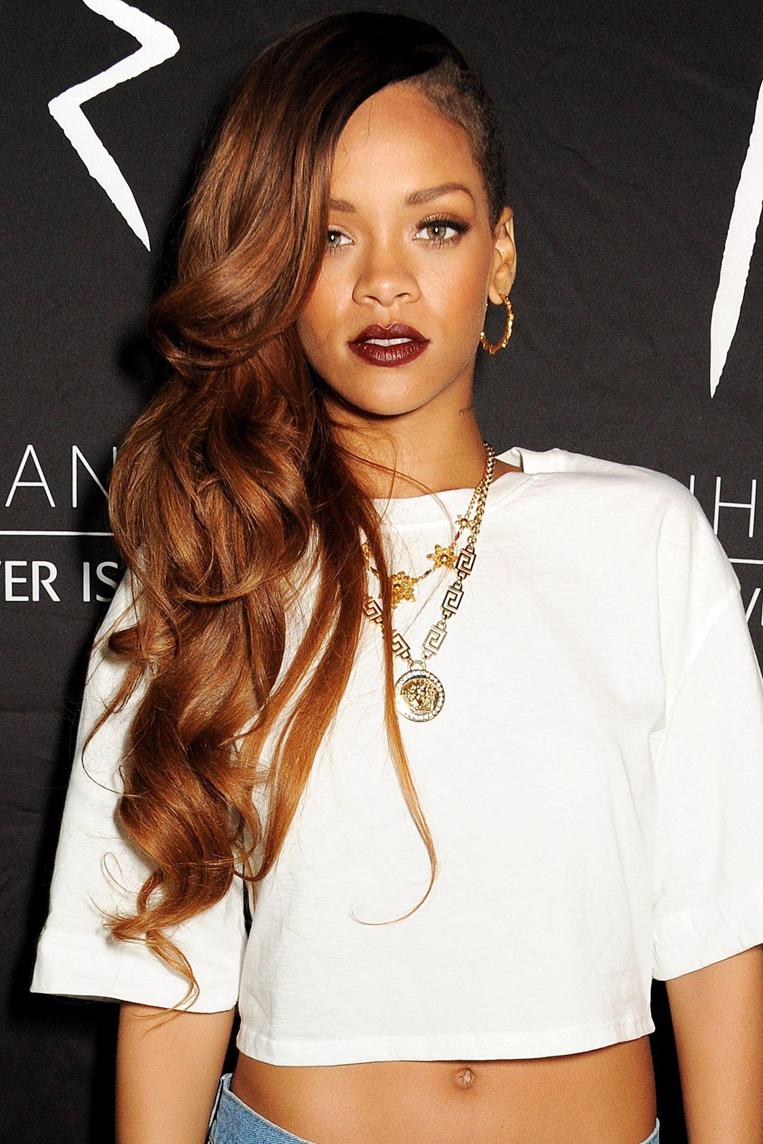 Rihannaus best beauty looks black women celebrities bridesmaid