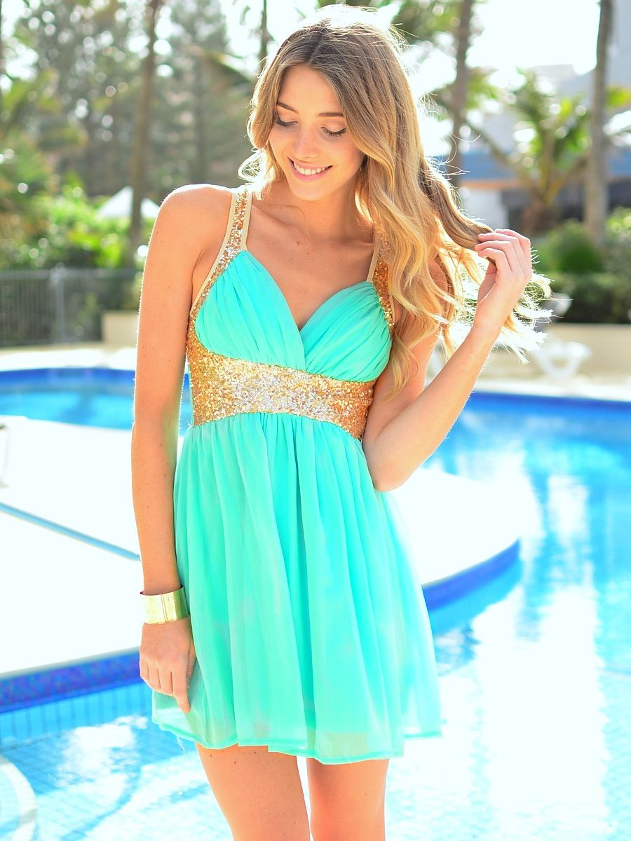 Sparkling mintuc dresses pinterest sequins cups and gold