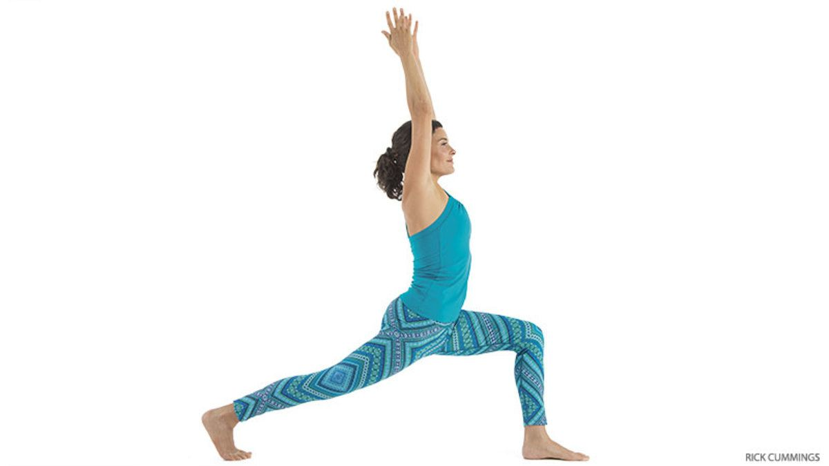 High Lunge, Crescent Variation | Eight angle pose, Cool ...