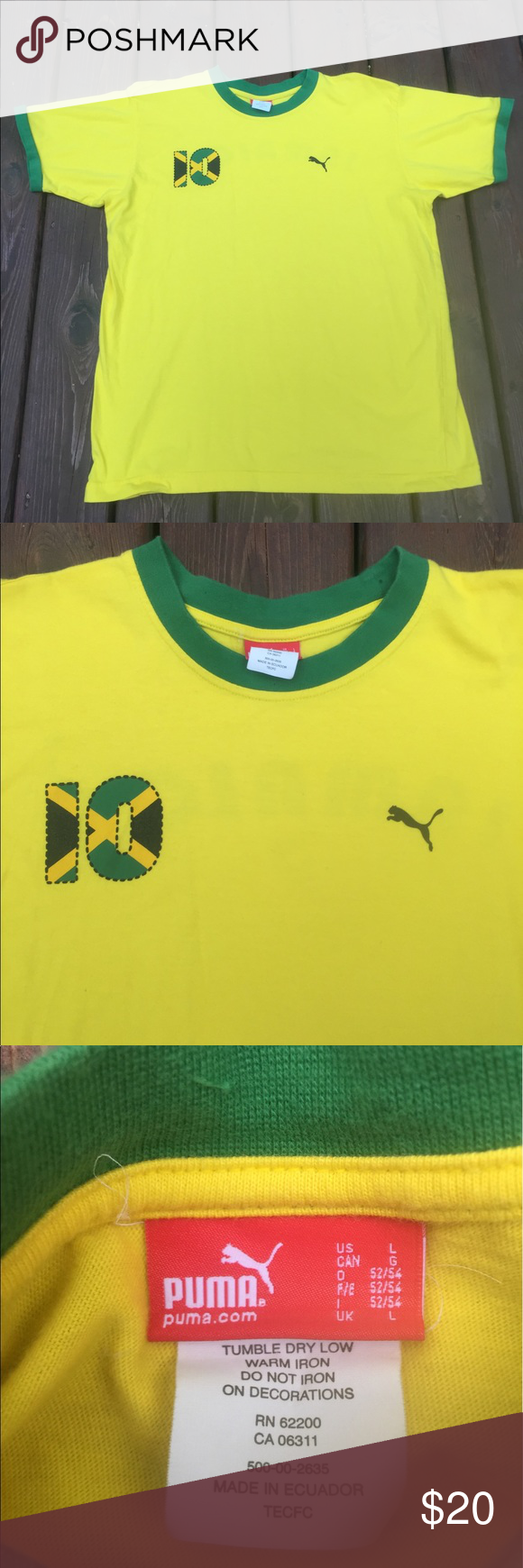 df7684168b6 Men s Large Puma Jamaica shirt size Large