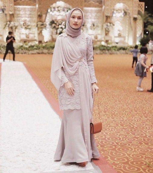 35 Contoh Kebaya Muslim Brokat Paling Laris 2018 Fashion