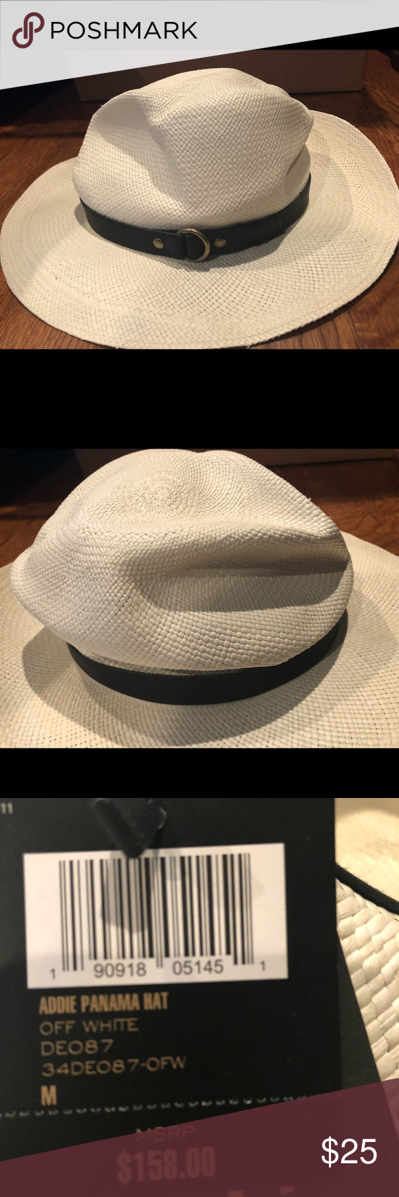 7651bee77f3d7 Frye women s Panama hat New New with defects Retail display so may have  slight imperfections See photos Frye Accessories Hats