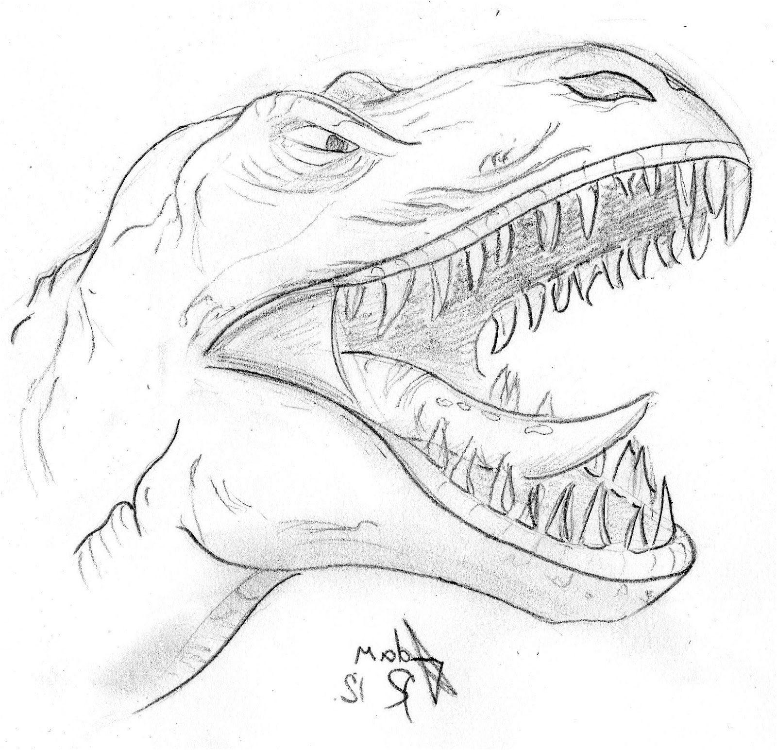 Coloriage Dinosaure Tyrannosaure