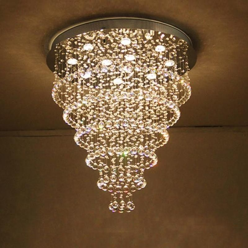 Multi Layer Round Crystal Chandelier Ceiling Lights Ceiling