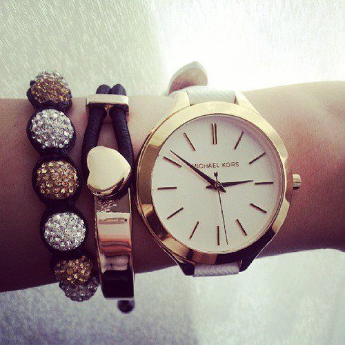 Michael Kors watch and arm candy