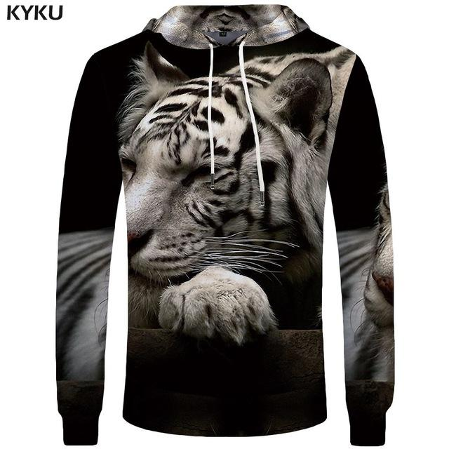 Photo of KYKU Tiger Hoodies Men Army Mens Clothing Jungle Big Size Anime Sweatshirt Hoddie Pocket 3d Hoodies Hood New Fashion Man – 3d hoodies 07 / 4XL