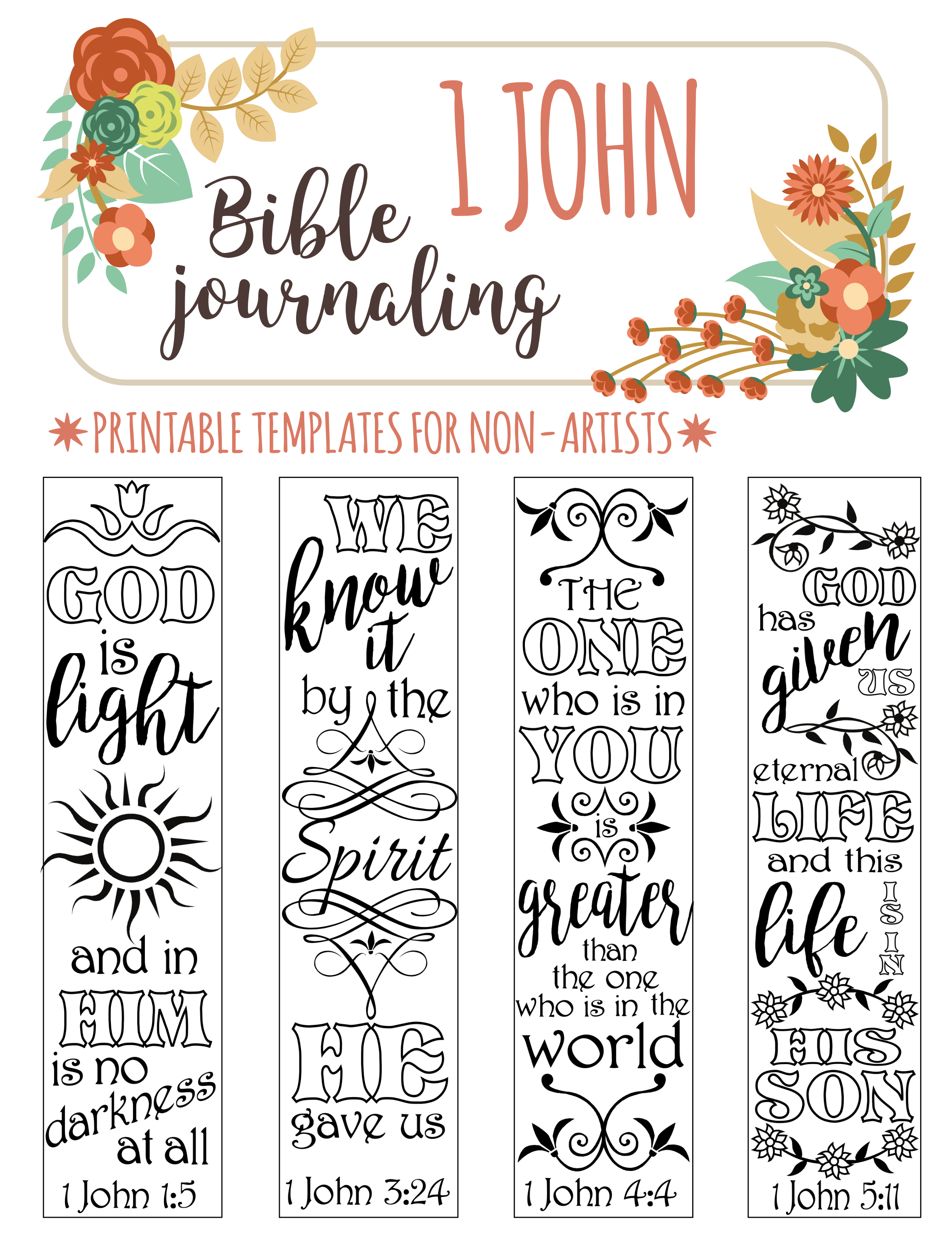 4 Bible Journaling Printable Illustrated Faith Bible Journaling Template Bible Journaling