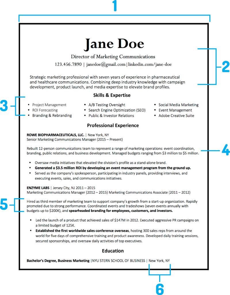 What Your Resume Should Look Like In 2018 Template