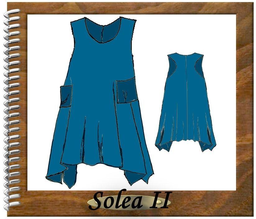 Details zu Designer Schnittmuster Lagenlook Tunika Solea 2