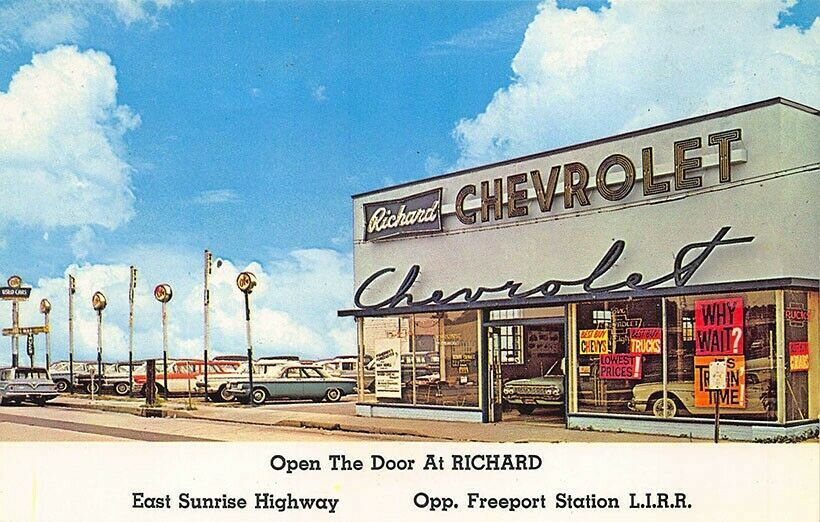 1961 Richard Chevrolet Corp Dealership Freeport Long Island New York Chevrolet Dealership Chevy Dealerships Chevrolet