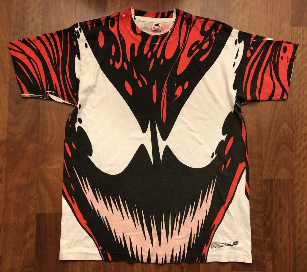 RARE Vintage 1993 Marvel Carnage T-shirt Size XL Spiderman Venom in ... 4e2b71fca