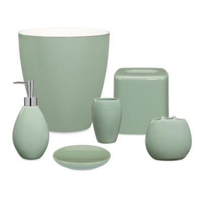 Wamsutta Elements Sage Bath Ensemble Available In Navy Yellow Sage Pink Aqua Choco Green Bathroom Accessories Bathroom Accessories Sets Amazing Bathrooms