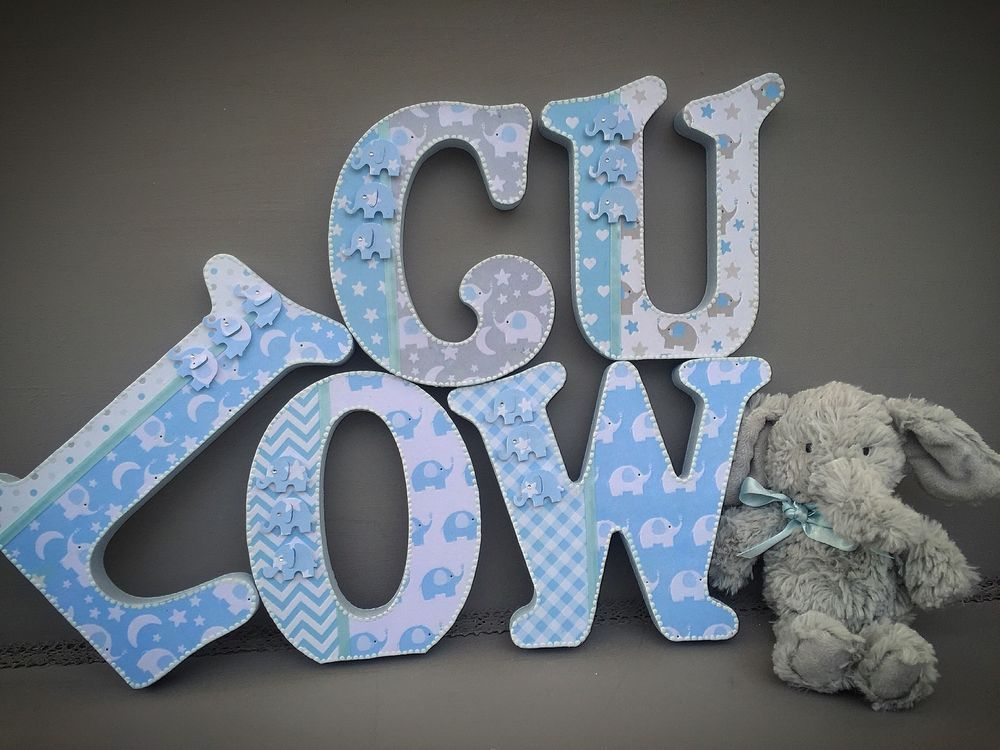 Painted Freestanding Wooden Letters