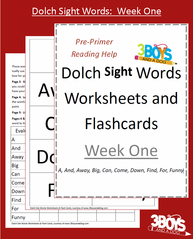 Sight Word of the Day Worksheets Based on Dolch 220 this set – Dolch Sight Words Kindergarten Worksheets