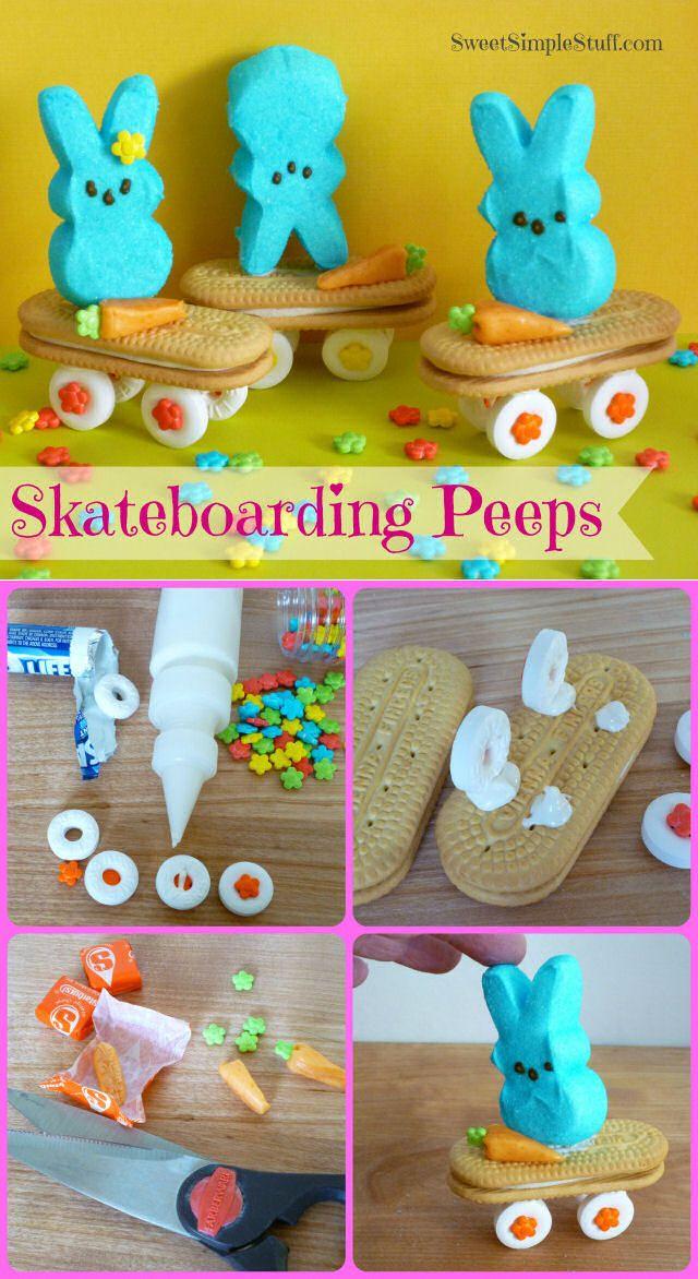 Diy Skate Boarding Peeps Easter Food Easter Crafts Easter