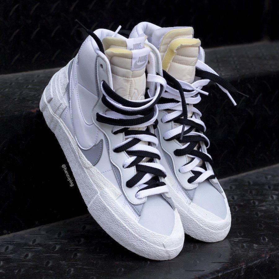 Sacai x Nike Blazer Mid in white and