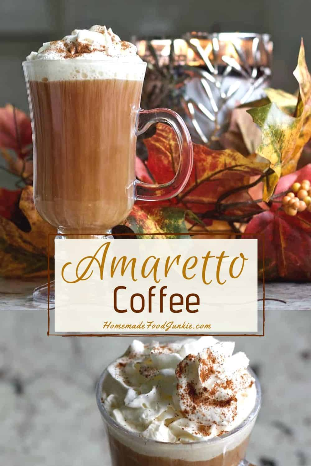 Amaretto brandy is truly coffees best friend. Rich and