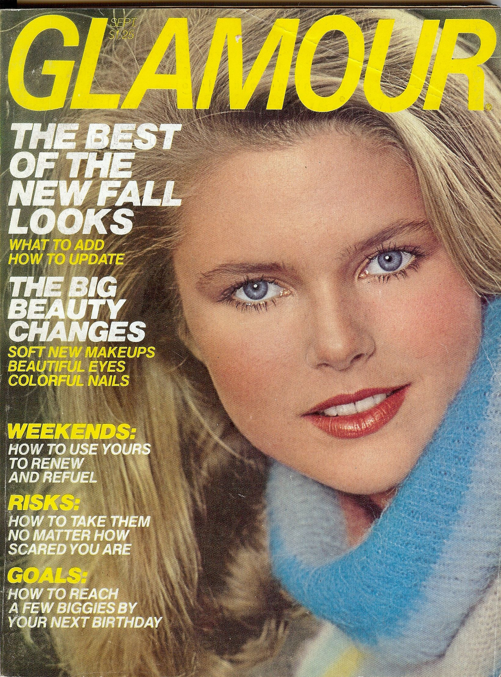 ae27d170f2be2 Glamour Magazine (Condé Nast) September 1977 - Model  Christie Brinkley    23 years old