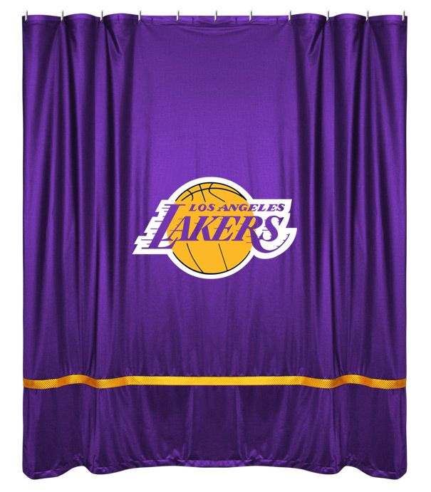 ATHLEZ - Los Angeles Lakers Sidelines Shower Curtain   Los Angeles ...